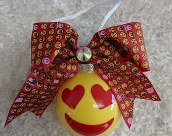 Emoji Ornament - with Hairbow 2017 Valentines Day