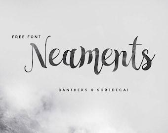 Calligraphy Font,  Swirly Font, Wedding Watercolor, Christmas font, Handwritten Script  Instant Download - Neament Font