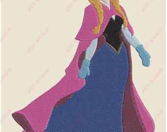 Anna Frozen Filled Embroidery Design - Instant Download
