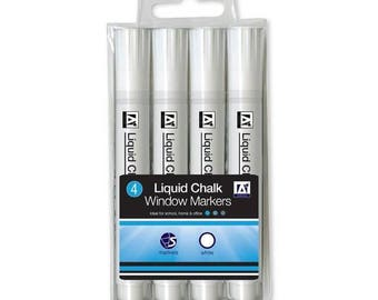 A-Star Liquid Chalk Window Markers Ideal For School, Home, Office - 4 Pack
