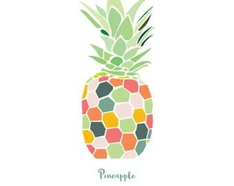 Tropical Pineapple Colourful Print