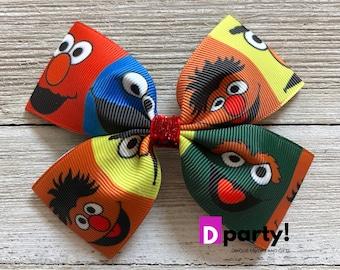 Sesame Street Hair Bow, Elmo Hairbow, Elmo Birthday, Basic Hair Bow, Elmo Outfit, Gift for Girls