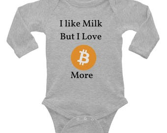 Bitcoin Infant Long Sleeve Bodysuit