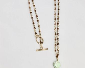 Boho Gold Feather Pendant Necklace