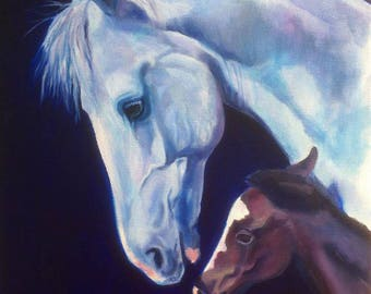 Protection, a Limited Edition PRINT of a mare and foal