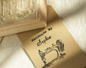 Handmade By Rubber Stamp with Sewing Machine, perfect Crafting Stamp