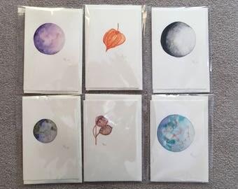 Original hand painted cards