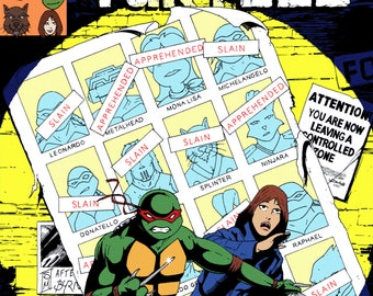 Turtles of Future Past A3 Print