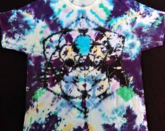 2XL Crew Neck Tie-Dyed T-Shirt