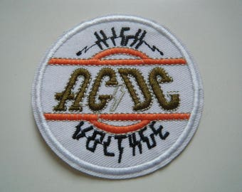 AC/DC Patch high voltage embroidered iron on sew on round badge powerage bon scott classic rock n' roll new