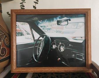 "10"" x 13"" Framed Photo (35mm Film) of Vintage Auto Interior"