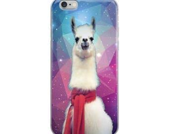 Geometric Scarf Llama Meme Humor iPhone Case scarf Llama iphone cases