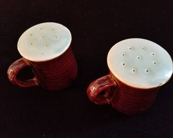 Red Wing Village Green Salt and Pepper Shakers