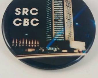 Vintage CBC / Radio Canada pin back button