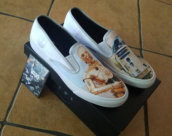 LIMITED EDITION star wars sperry shoes c3po  r2d2   sz. 11 m  -  NEW