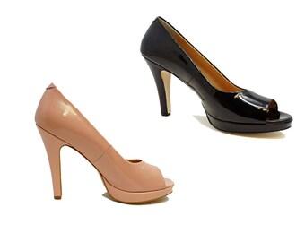 Zep Shoes Artisan Unique Work High Heeled Sandals Genuine Leather Handmade