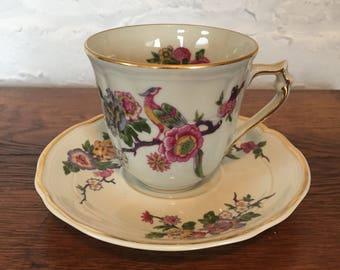 Bernardaud Limoges Bengali Tea Cup and Saucer