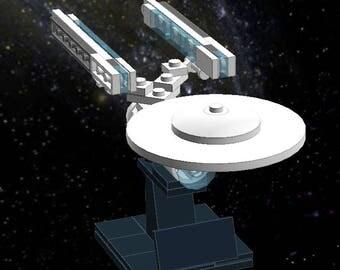 USS Enterprise A Refit - Lego Star Trek - Instructions/Parts List - Files Only