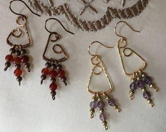 Triangular Dangle Earrings