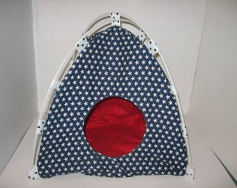 Unique pet tent/teepees/pet bed for cats, dogs, ferrets, guinea pigs,bunnies,  Made and READY TO SHIP