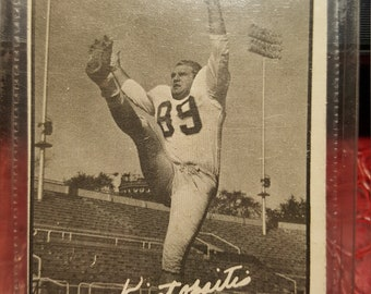 1961 CFL #10  Vic Kristopaitis card.Combined shipping