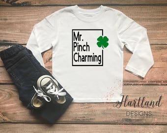 Mr Pinch Charming- Toddler St Patrick Day Shirt- St Patrick Day Shirt-