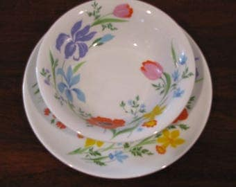 Primavera .  Heinrich  H &G SELB.  Bavaria, Germany.  Bowl and plate
