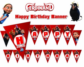 ferdinand the bull Ninjago Happy Birthday Banner ferdinand movie flag (non persoalized)