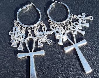 Gothic ankh Egyptian earrings