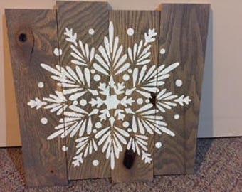 Snowflake Rustic Sign
