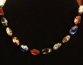 the Choker necklace made of glass beads, retro