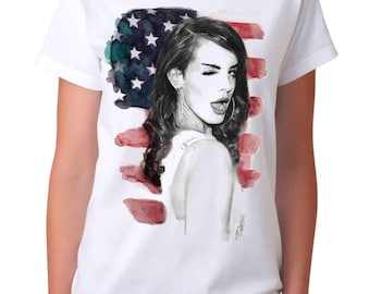 Lana Del Rey Art T-shirt, Men's Women's All Sizes