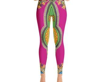 Dashiki Style Yoga Leggings