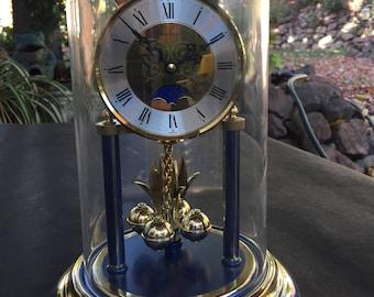 Vintage Dunhaven moon faced anniversary quartz clock