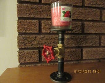 Item # 111, Steampunk,Industrial Candle Holder,Single