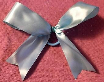 "Cheer Bow, Blue Hair Bow, Fancy Bow, Girls Hair Bows, Boutique bow, Satin Bow, Girls hair bow, Basic Cheer Bow, Baby Blue Bow, Big Bow, 9"""