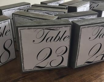Table Numbers wedding