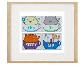 Cats 01 cross stitch pattern (download PDF)