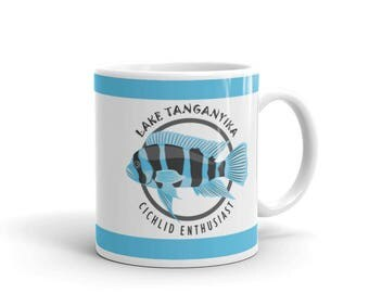 Aquarium Fish Lover Mug - Cichlid Lover Gift - Lake Tanganyika Cichlid Enthusiast Coffee Drink Mug