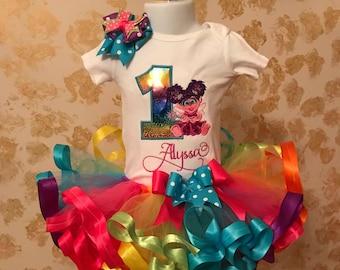 Abby cadabby tutu set, cadabby birthday outfit, sesame street tutu set, birthday shirt, Abby set , first birthday outfit girl, abby dress