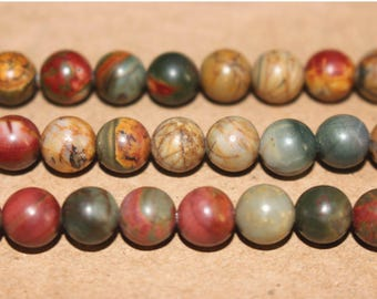 15 Inches Full strand,Picasso Jasper round beads 6mm 8mm 10mm 12mm beads,loose beads,semi-precious stone