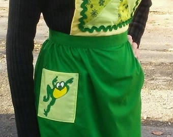 Irish meadow baking apron
