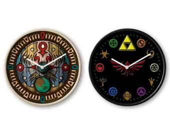 The Legend Of Zelda Clock, Zelda Clock, Zelda Logo Clock, Legend of Zelda Clock, Zelda Gift, Clock For Wall, Black/White/Wood