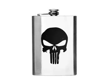 Marvel Punisher Logo Flask