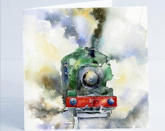Making Steam Engine - Taken from an original watercolour by Sheila Gill