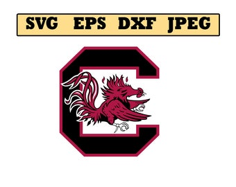South Carolina Gamecocks SVG File - Vector Design in, Svg, Eps, Dxf, and Jpeg Format for Cricut and Silhouette, Digital download !!!!!!!!!!!