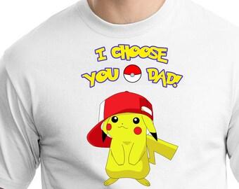 Pokemon , Iron On Transfer , Pokemon Daddy Of The Birthday Boy , DIY Pokemon Daddy Shirt Transfer , Instant Download , Digital Files