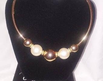 Gold/Pearl Choker