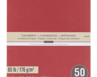 Red (Canberry) Card Stock Paper