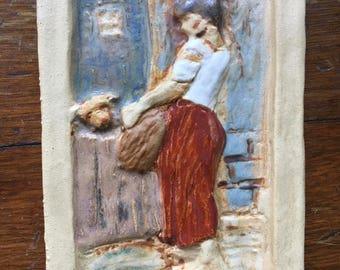 "4"" x 6"" Peasant Relief Tile"